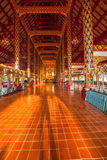 Thailand clear Maisong De temple hall. Ostersund Temple was built in the 14th century palace gardens of the industry within the country's largest temple Stock Photos