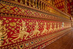 Thailand clear Maisong De temple hall. Ostersund Temple was built in the 14th century palace gardens of the industry within the country's largest temple Royalty Free Stock Photography