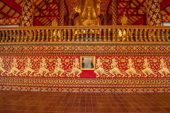 Thailand clear Maisong De temple hall. Ostersund Temple was built in the 14th century palace gardens of the industry within the country's largest temple Royalty Free Stock Photos