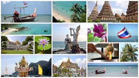Thailand-Collage stock footage
