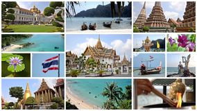 Thailand-Collage stock video footage