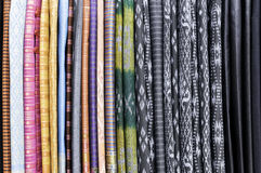 Thailand colorful fabrics Royalty Free Stock Photos