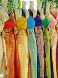 Thailand colours clothes in line Royalty Free Stock Photos