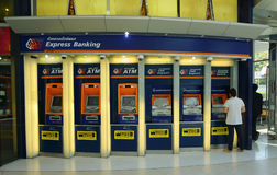 Thailand commercial bank ATM booths Stock Photo