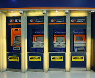 Thailand commercial bank ATM booths Stock Photography