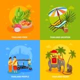 Thailand Concept Set Stock Images