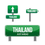 Thailand Country road sign Stock Image