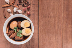 Thailand cuisine called, Thai food. Thailand cuisine called `Pa-lo` , hard-boiled egg and pork stew with seasonings blend, sweet taste Royalty Free Stock Images