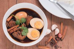 Thailand cuisine called, Thai food. Thailand cuisine called `Pa-lo` , hard-boiled egg and pork stew with seasonings blend, sweet taste Stock Photography