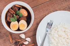 Thailand cuisine called, Thai food. Thailand cuisine called `Pa-lo` , hard-boiled egg and pork stew with seasonings blend, sweet taste Royalty Free Stock Photography