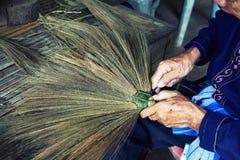 Thailand cultural,handmake broom making Stock Photo