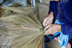 Thailand cultural,handmake broom making Royalty Free Stock Images