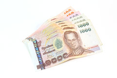 Thailand currency in the form of banknotes. Thailand currency in the form of banknotes Royalty Free Stock Photos