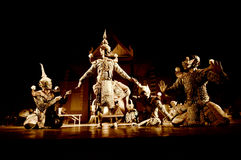 Thailand Dance. Ramayana thai dance performence Royalty Free Stock Images