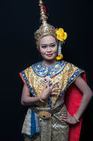"""Thailand Dancing art """"Khon"""" that high class of dance in Siam Royalty Free Stock Photos"""