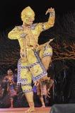 Thailand Dancing art called Khon, an high-class. NAN, THAILAND - FEBRUARY 19: An unidentified actor performs Thailand Dancing art called Khon, an high-class of stock image