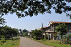Thailand Day Outdoor Country House Road Royalty Free Stock Photos