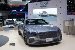 Thailand - Dec , 2018: Bentley new continental GT grey color luxury car presented in motor expo Nonthaburi Thailand stock photography
