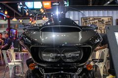Thailand - Dec , 2018 : close up front view of Harley Davidson FLTRU Road Glide Ultra 2019 Motorcycles show in motor expo royalty free stock photo