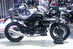 Thailand - Dec , 2018 : close up GPX gentleman racer 200 motorbike presented in motor expo Nonthaburi Thailand royalty free stock photos
