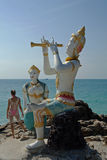 Mermaid and The Prince Statue, Koh Samet Island, Thailand Royalty Free Stock Photos
