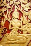 Thailand delikat wood carvings. Royaltyfri Fotografi
