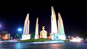 Thailand Democracy monument. Nightscene with democracy monument of thailand Royalty Free Stock Photo