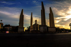 Thailand Democracy Monument sunset Royalty Free Stock Photography