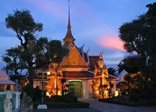 Thailand an der Dämmerung lizenzfreies stockbild