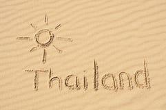 Thailand der Sand Lizenzfreie Stockfotos