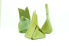 Thailand dessert in banana leaves Royalty Free Stock Images