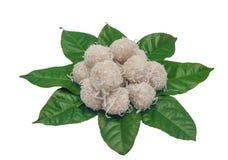 Thailand dessert called Kanomtom. (Thai Coconut muchkin Royalty Free Stock Image