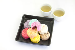 Thailand dessert with green tea Royalty Free Stock Images