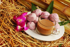 Thailand dessert with hot coffee Royalty Free Stock Photo