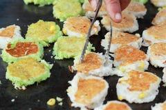 Thailand dessert, Mix flour, coconut and then fried. Thailand dessert, Mix flour, coconut and then fried Stock Images