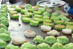 Thailand dessert, Mix flour, coconut and then fried. Thailand dessert, Mix flour, coconut and then fried Stock Image
