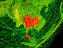 Thailand on digital Earth vector illustration