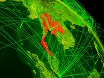 Thailand on digital globe stock illustration