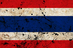 Thailand Dirty Old Grunge Flag Stock Images