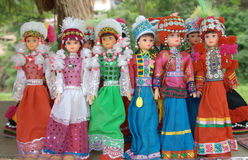 Thailand doll. Thailand doll wearing a traditional northern residents Royalty Free Stock Photos