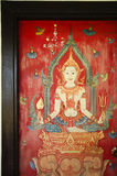 Thailand drawing on temple door Royalty Free Stock Photography