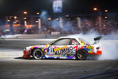 Thailand Drift Series 2014 in Pattaya Stock Images