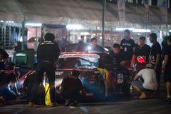 Thailand drivaserie 2014 i Pattaya Fotografering för Bildbyråer