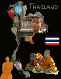 Thailand Educational Poster Royalty Free Stock Photo