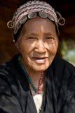 Thailand, eine alte Frau von der Akha-Ethnie Stockbild
