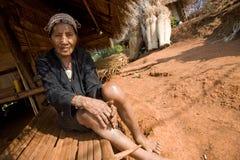 Thailand, eine alte Frau von der Akha-Ethnie Stockfoto