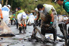 THAILAND-ENVIRONMENT-OIL-POLLUTION Imágenes de archivo libres de regalías