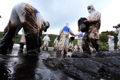 THAILAND-ENVIRONMENT-OIL-POLLUTION 免版税图库摄影