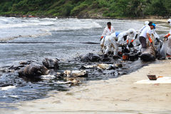 THAILAND-ENVIRONMENT-OIL-POLLUTION Stockbild