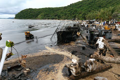 THAILAND-ENVIRONMENT-OIL-POLLUTION Images stock